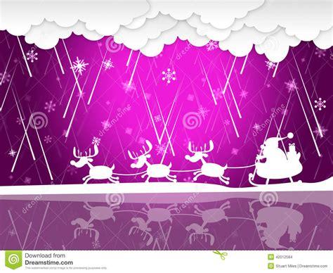 xmas rain shows santa claus  christmas stock illustration image