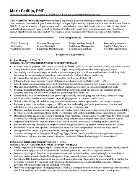 telecom project manager resume sle gallery creawizard