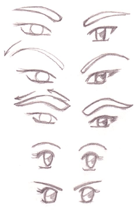 Anime Eyebrows by How To Draw Anime Characters How To Draw Eyebrows