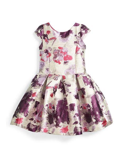 Dress Zoe Sleeve Flower Dress Hat zoe cap sleeve floral brocade dress in multicolor multi