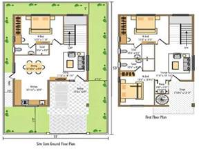 small bedroom plan north east facing duplex house plan