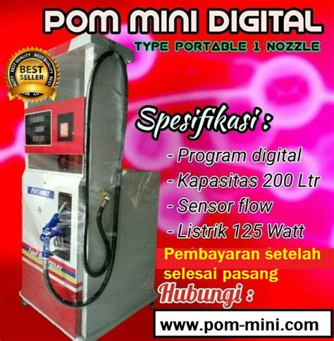 harga jual pom mini digital portable pom mini mesin
