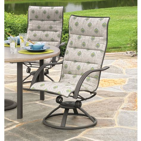 High Patio Chairs High Back Swivel Rocker Patio Chairs Homecrest Kashton Sling High Back Swivel Rocker