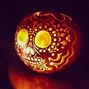 Day Of The Dead Pumpkin Template by Sugar Skull Pumpkin Carving Memes