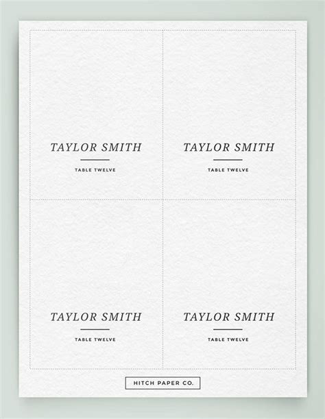 name cards for tables template printable table place cards template brokeasshome