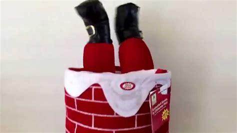 Chimney Hat With Santa - musical moving legs santa stuck in chimney talking
