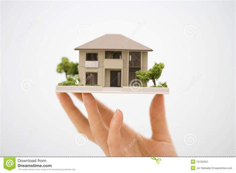 house model model house with a hand stock image image 10152451