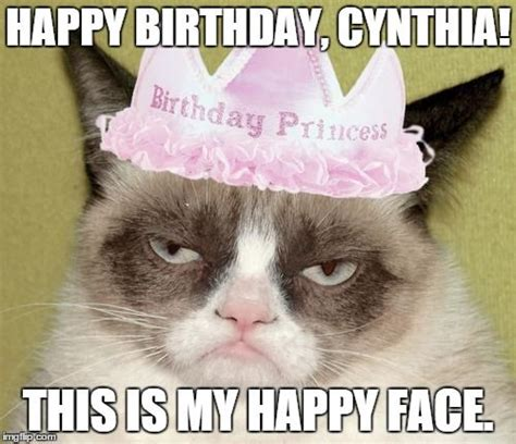 Grumpy Cat Happy Birthday Meme - 1000 ideas about birthday meme generator on pinterest