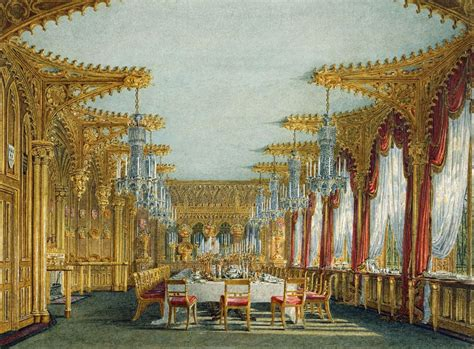 carlton house file carlton house gothic dining room by charles wild 1817 royal coll 922189