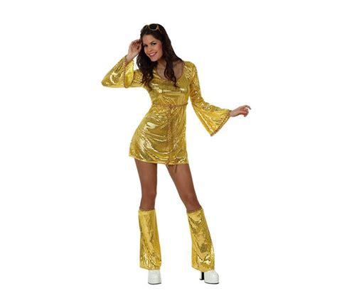 disfraces de abba tienda online de disfraces disfraces bacanal disfraz chica disco vestido dorado para mujer xl