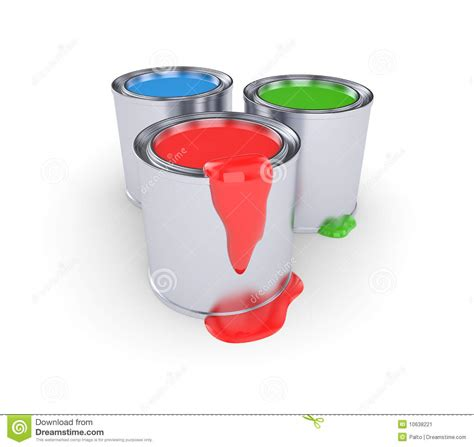 rgb cans with paint stock image image 10638221