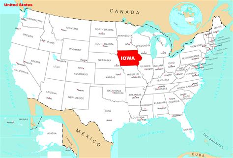 map of usa and map of iowa state map of usa