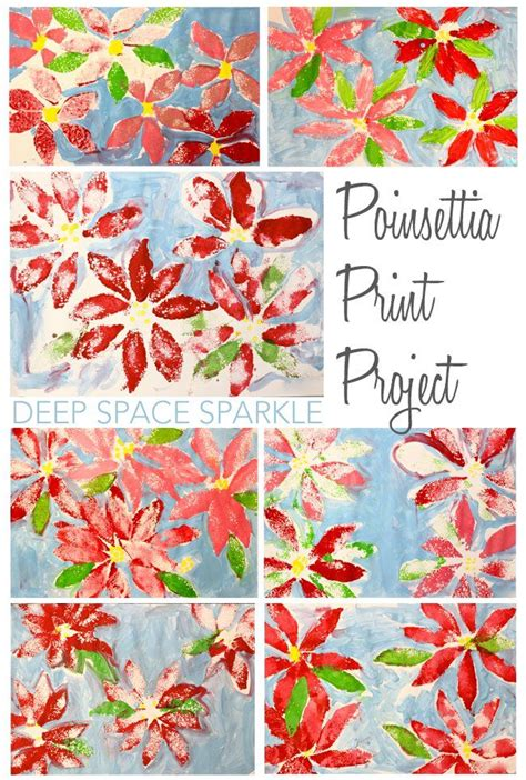 poinsettia craft projects poinsettia print project craft activities poinsettia