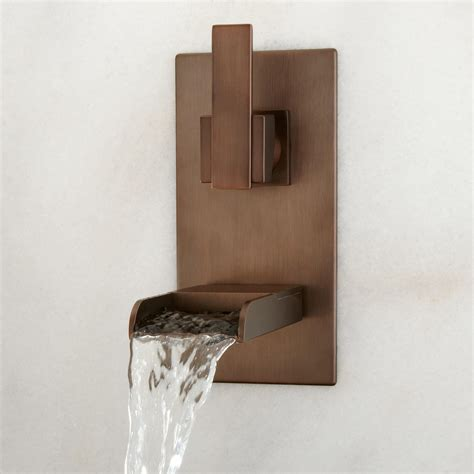 wall mount waterfall bathtub faucet willis wall mount bathroom waterfall faucet waterfall