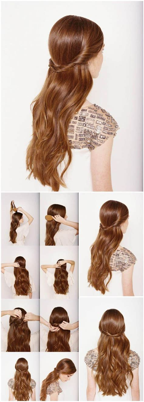 half up half down hairstyles easy step by step 25 diy hairstyles you can do with these step by step
