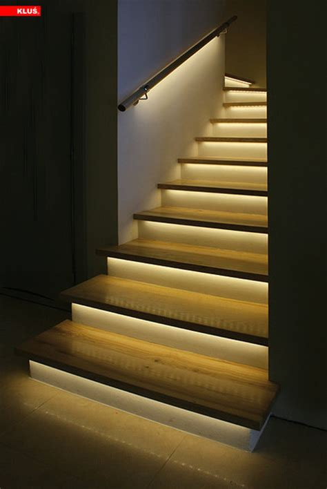 Lights For Stairs by Led Staircase Accent Lighting Contemporary Staircase