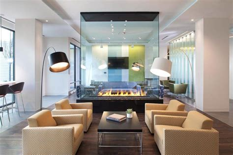 Modern Kitchen Color Ideas by Double Sided Fireplace Designs For Your Living Room