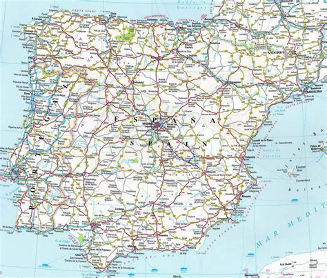 map of spain with cities you it took a while to find a legible road map i