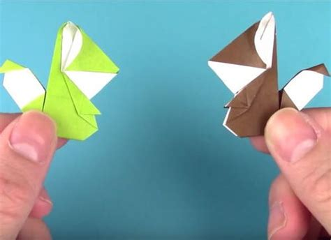 3d origami squirrel tutorial polar bear handprint allfreepapercrafts com