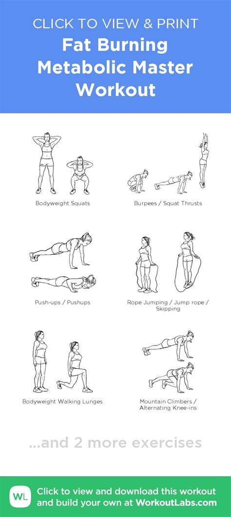 fat burning quot metabolic master quot printable exercise plan for 21 best occupational therapy images on pinterest desk