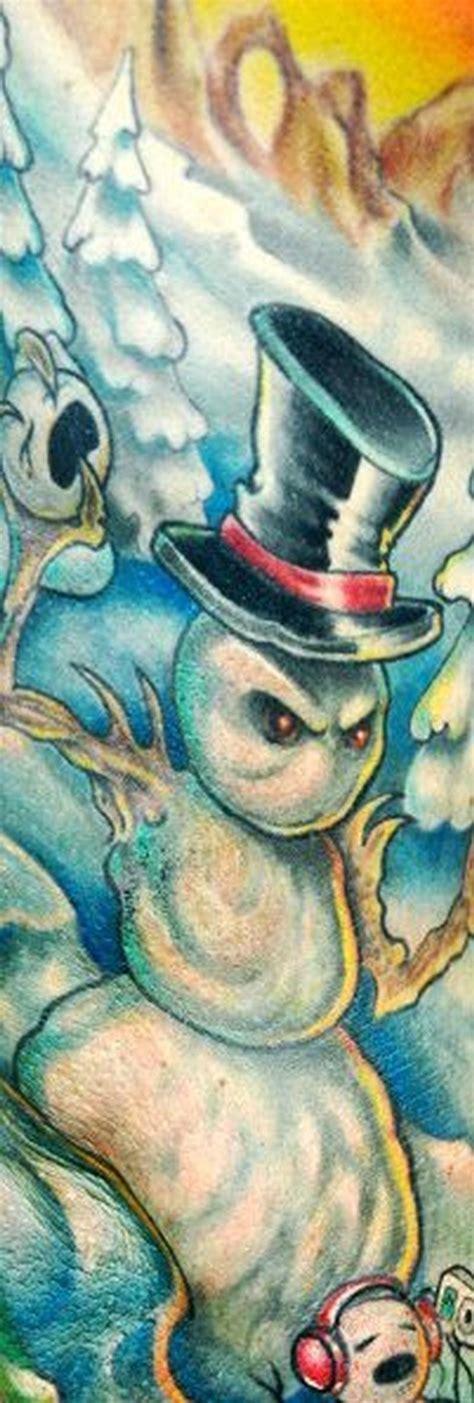 snowman tattoo snowman by bez tattoonow