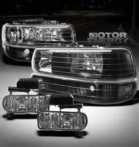 1999 2002 silverado 2000 2006 tahoe suburban black light bumper fog ebay