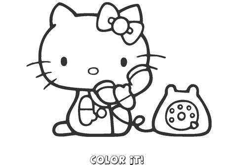hello kitty coloring pages you can color online kids