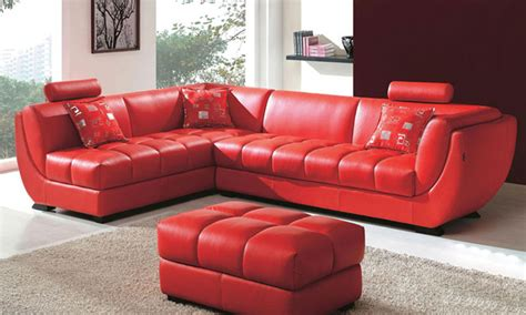 cheap red couches classic european style cattle leather passion red corner