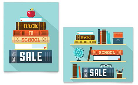 school supplies sale poster template back to school books sale poster template word publisher