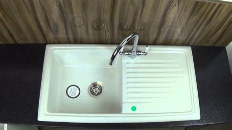 cheap ceramic kitchen sinks reginox rl304cw ceramic kitchen sink youtube
