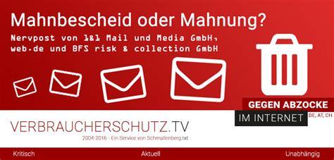 Musterbrief Kündigung Baufinanzierung Nach 10 Jahren Mahnbescheid Oder Mahnung Nervpost 1 1 Mail Und Media Gmbh Web De Und Bfs Risk