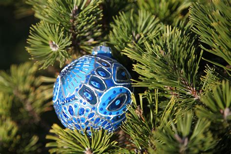 christmas ornament blue winter peacock photo 5 by