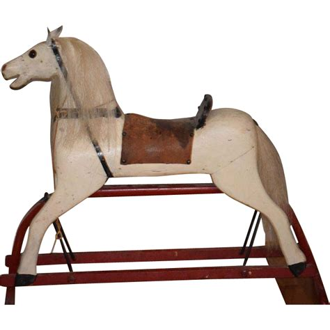 swing set with horse glider antique doll wood rocking horse unusual glider saddle from