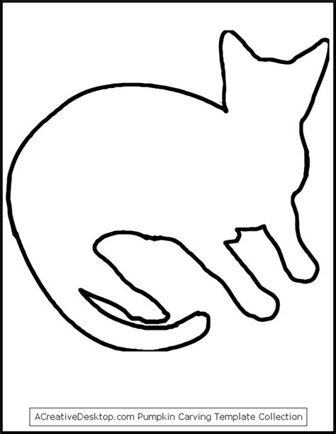 outline of cat coloring home