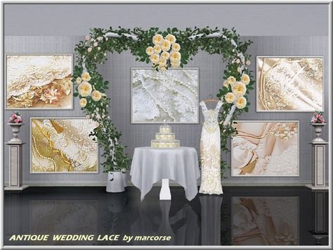 Wedding Arch Sims 4 Cc by Antique Wedding Lace Marcorse