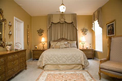 lavish french champagne gold master bedroom