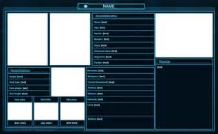 Character Template Sheet by Swtor Character Sheet Template By Isriana On Deviantart