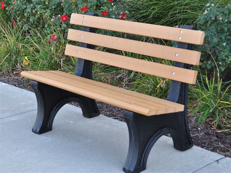 recycled plastic garden benches comfort park avenue bench by jayhawk plastics outdoor