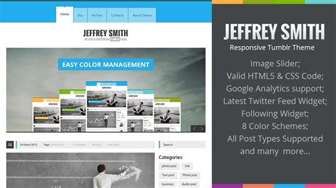 themes tumblr responsive jeffrey smith responsive tumblr theme themes templates