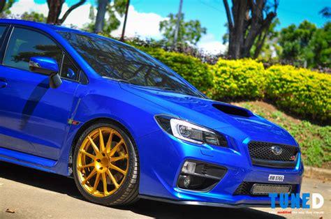 blue subaru gold blue 2014 sti autos post