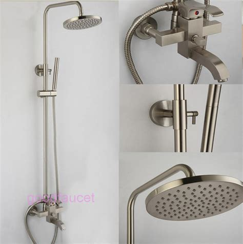 How To Install Shower Faucet Set by Brushed Nickel Shower Decorative Kitchen Cabinet