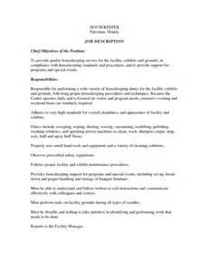 effective housekeeping resume for description vntask