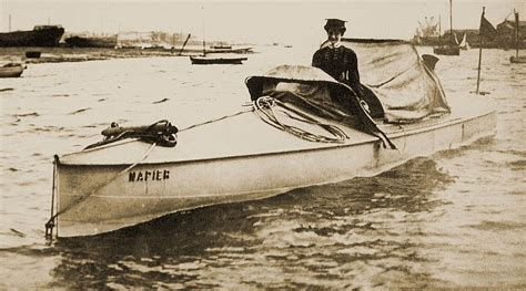 first motor boat fixitor victorian art nouveau gentleman s racing boat