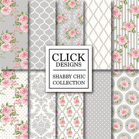 shabby chic digital paper shabby light gray