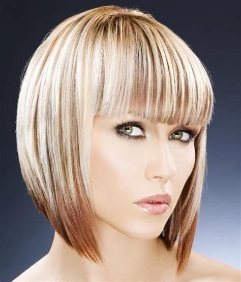 graduated bob with fringe hairstyles inverted bob haircuts with fringe haircuts models ideas
