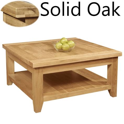 Coffee Table Lounge Panama Solid Oak Living Room Furniture Square Coffee Table Ebay