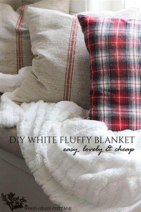 flauschige decke diy white fluffy blanket the wood grain cottage