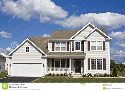 How To Find House Plans by Suburban House Royalty Free Stock Photography Image 6041727