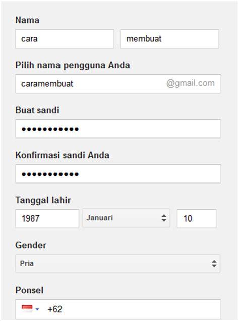 cara membuat akun gmail hp daftar email gmail cara buat akun gmail baru di google