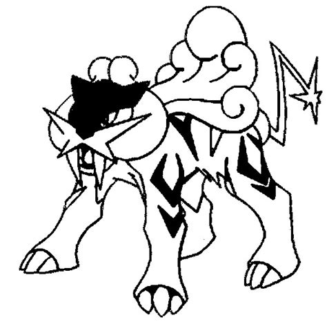 pokemon coloring pages raikou coloring pages pokemon raikou drawings pokemon